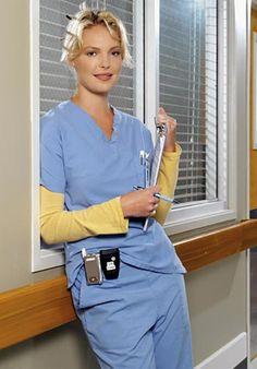 Izzie Stephens (Katherine Heigl), Grey's Anatomy.
