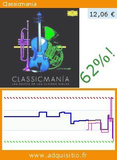 Classicmania (CD). Réduction de 62%! Prix actuel 12,06 €, l'ancien prix était de 31,51 €. http://www.adquisitio.fr/universal/classicmania