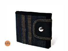 On SALE! Vegan Wallet, Cool Wallet, Denim Wallet UNUSUAL - Handmade Ready to Ship - pinned by pin4etsy.com