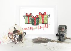 A personal favorite from my Etsy shop https://www.etsy.com/listing/255627807/christmas-decor-wall-art-printable-decor