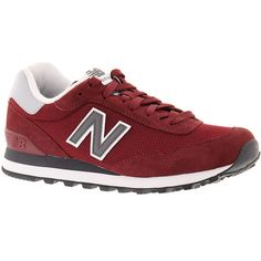 New Balance WL515 Women's Red Sneaker (€59) ❤ liked on Polyvore featuring shoes, sneakers, red, rubber sole shoes, mod shoes, red trainers, new balance footwear and red sneakers