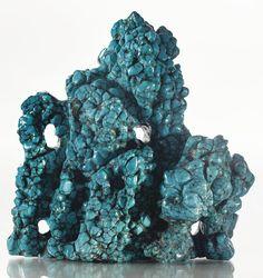 A turquoise 'scholar's rock' (gongshi), Qing dynasty