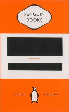 """""""… David Pearson's magnificently cheeky 1984, for Penguin UK. The abstract beauty of redaction. Black foil covering the title and author name."""""""