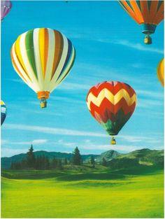 Afsnijding: niet alles past op de foto, sommige dingen worden 'afgesneden'. Bij deze foto zie je  niet alle luchtballonen.