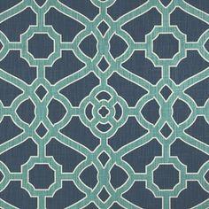 P Kaufmann Pavillion Fretwork Indigo Geometric Fabric Pavillion, Geometric Fabric, Drapery Panels, Home Decor Fabric, Decorative Pillow Covers, Accent Pillows, Sofa Pillows, Designer, Upholstery