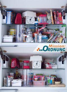 Mission:ORDNUNG Ordnung in der Küche - Back- und Gewürzschrank