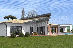Plan de maison moderne PANDORE Casa Patio, Villa, Mansions, House Styles, Home Decor, Home Ideas, Pandora, Decoration Home