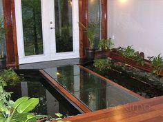 Interior Koi Pond   Cast Glass, Glass Flooring, Antique Mirrors   Jockimo,  Inc.