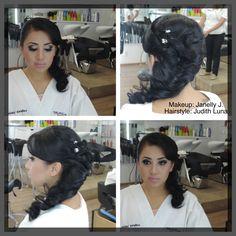 #vellesasalon #judithluna #luzma #janelly #samuelluna #makeup #hairstyle #peinado #maquillaje