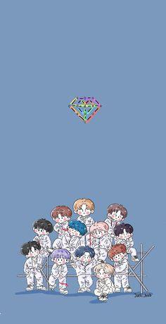 Lock Screen Wallpaper, Iphone Wallpaper, Korean Babies, Panda Love, Treasure Boxes, K Idols, Aesthetic Wallpapers, Cute Wallpapers, Chibi