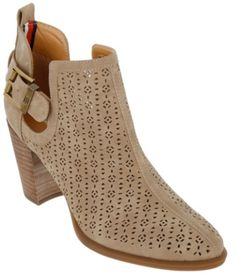 605fff23e3e8 Perforated Booties - Burkes Outlet  49.99  booties  style  cute   tommyhilfiger  shoes