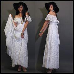 Gunne Sax vintage wedding dress.