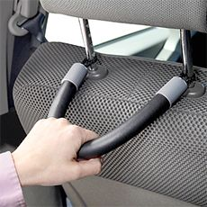 Back seat assist; hook to the back of the front seat headrests that you can hold it to help get out--would be great for elderly or disabled.