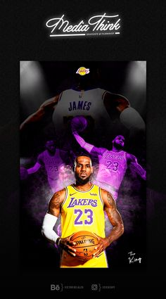 Poster lebron James on Los Angeles Lakers Lebron James Wallpapers, King Lebron James, Graphic Design Posters, Los Angeles Lakers, Nba Basket, Clip, Basketball Design, Illustration, Movie Posters