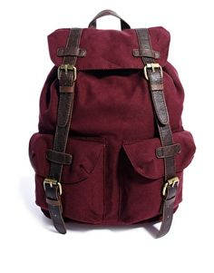 Buy ASOS Backpack In Burgundy With Contrast Straps at ASOS. Get the latest trends with ASOS now. Men's Backpack, Canvas Backpack, Asos, Fjallraven, Street Style Trends, Everyday Bag, Chanel Handbags, Chanel Bags, Swagg