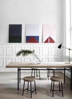 Colors new prints by Studio Esinam | Via theposterclub.com cork furniture from IKEA sinnerlig collection