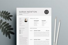 Resume Template 4 pages | Moonlight by The.Resume.Boutique on @creativemarket