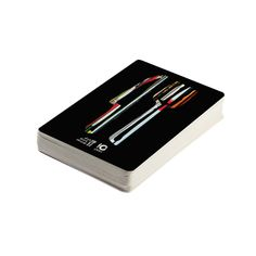 Fork & Knife Playing Cards A classic deck of cards featuring the Dine Alone fork and knife. Comes in a matching branded paper box. Deck Of Cards, Alone, Fork, Playing Cards, Dining, Paper, Classic, Derby, Food