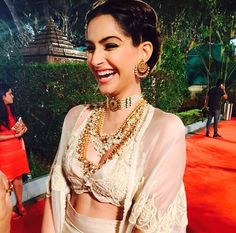 Sonam Kapoor - Jewellery inspiration. #Antique #Classy