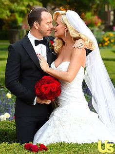 At Last!At Last! Jenny McCarthy and Donnie Wahlberg tied the knot in a romantic classic ceremony at the Hotel Baker in St. Charles, Ill., outside Chicago on Aug. 31, 2014 four months after getting engaged