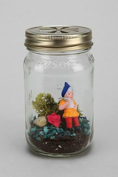 You will never be alone with this Terrarium. The gnome will tell you when you've had too many drinks from last night. Trust me.