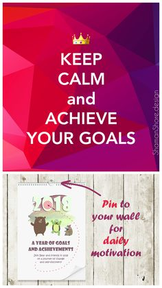 Calendar Printable Monthly, Cute Calendar 2018, Monthly Calendar Pdf, New Year Resolution Motivational Calendar A3, Wall Calendar Printable,  Fun Calendar Motivation, 2018 Wall Calendar Goal Achievement, Keep Calm Quote