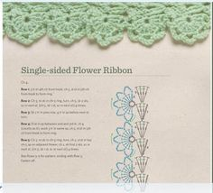 Single Sided Flower Ribbon. Japanese site - instructions in English with diagram