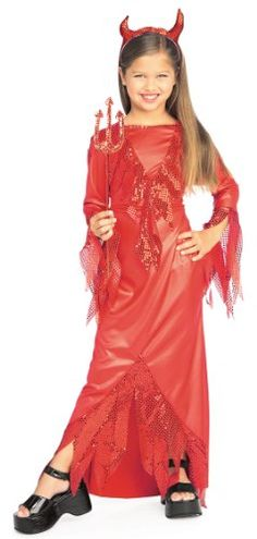 Devilish Diva Includes: Sequin Embelished Dress and Horns. Optional Accessories: Sequin Pitchfork This is a Child Costume. Demon Halloween Costume, Devil Costume, Halloween Costumes For Girls, Girl Costumes, Shrek Costume, Link Halloween, Children Costumes, Halloween Season, Halloween Party