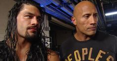 Side-by-side with The Rock, Roman Reigns has his eyes set on Brock Lesnar after winning the Royal Rumble Match.