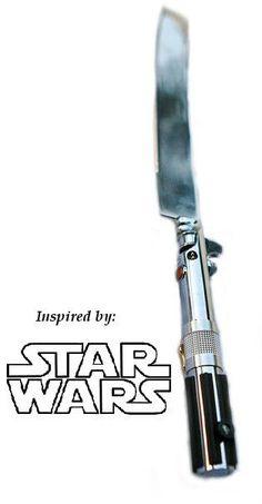 Star Wars Lightsaber Weding Cake Knife Cutter. $55.00, via Etsy.