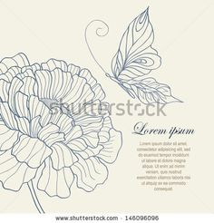 butterfly drawing flower - Google Search