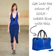 Cobalt blue is bold, bright and is staying at the forefront of fashion styles in 2015. Boost your wardrobe with our Nadine Handbag in cobalt blue – it's an absolute showstopper!