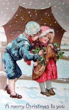 Vintage Children -  Children - Vintages Cards -  children, vintage, xmas, christmas, holidays, free, clipart,