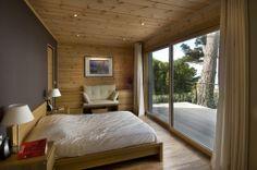 Honka Blockhaus Modell Fusion Bretagne Schlafzimmer