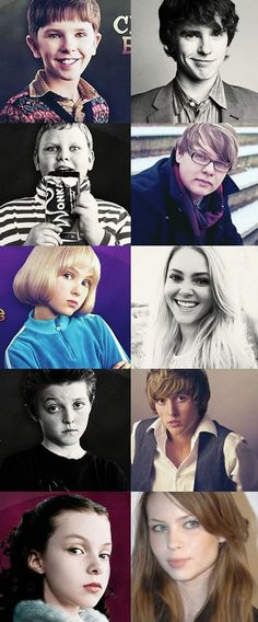 The cast of Willy Wonka and the Chocolate Factory, then and now.