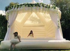 Wedding reception bouncy castle
