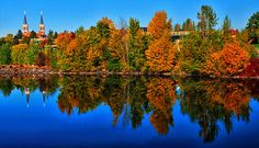 Fall Along the Spokane River