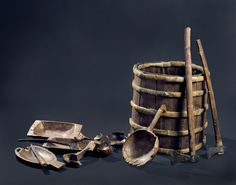 Objects found on the Viking ship Oseberg in Norway