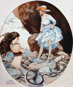 """vintagegal: """"Cover illustration by Chéri Hérouard for La Vie Parisienne, August 19, 1916 """""""