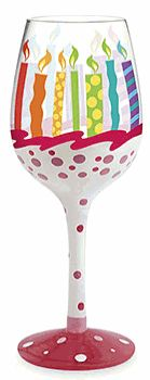 Birthday - maybe find a plastic cheap glass similar to this?  Could be her birthday cup, and put it on the center of the table as a center piece/a surprise gift!