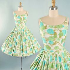 Vintage 50s Dress / 1950s Polished Cotton by GeronimoVintage