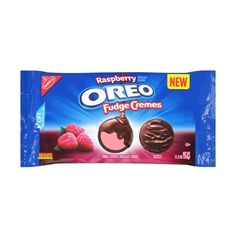 Nabisco Oreo Raspberry Fudge Cremes Fudge Covered Chocolate Cookies,... ❤ liked on Polyvore featuring food, food & drinks and еда