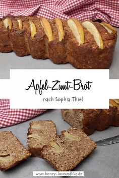 Apfel-Zimt-Brot nach Sophia Thiel Kochbuch Fitness Sweets #Bananenbrot #Haferflockenbrot