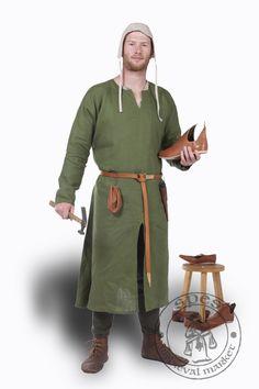 Handwerker mit Beinlingen, einfacher Wollcotte und Bundhaube