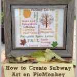 How to Create Subway Art on PicMonkey {Tutorial}