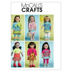 Doll Clothes for 18 Dolls-One Size Only Pattern at Joann.com