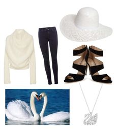 """Swan"" by racheldenisnefeke on Polyvore featuring Yeon, 7 For All Mankind, Carvela and Dorothy Perkins"
