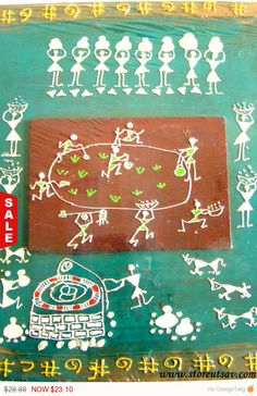 My First Commissioned Warli Wall Art Art Pinterest Walls and