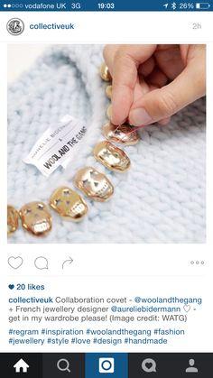 Schmucker Strick: Aurélie Bidermann x Wool and the Gang - Journelles Hand Knitting, Knitwear, Cufflinks, Beaded Bracelets, Wool, Create, My Style, Instagram Posts, Handmade
