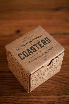 Premium Handmade Coasters via @The Dieline
